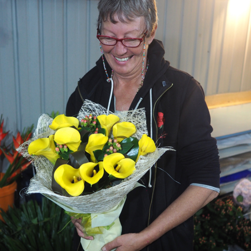 Jane with a Calla Lily Bouquet